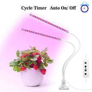 Lampe de Plante Croissance, OxyLED Lampe Culture Horticole avec à Double Têtes avec 36LED,5 niveaux de luminosité,Ajustable à 360° pour les plantes d'intérieur,Succulentes,hydroponique,légumes