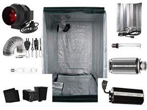 Nito GmbH Growbox Kit Complet pour Sodium 80 x 80 x 180 cm 400 W 440 Watt Pro