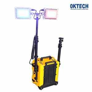 OKTECH FW6108 Multifonctions Système D'éclairage IP65 Réglable Spot Chargable Batterie Au Lithium 25W / 45W Projecteur Portable