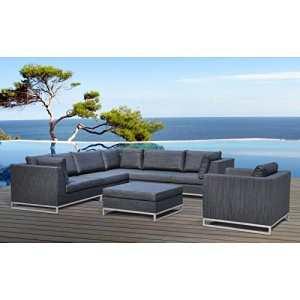 Paris Prix – Salon De Jardin Ibiza 299 Cm Gris
