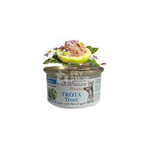 PURA NATURA Trout d'Apple Kitten Wet Cat Food premium