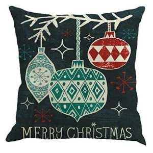 ronamick Noël coton lin Canapé Car Home Taille Taie d'oreiller Coussin décoratif cas, Polypropylène, B, 45cm*45cm