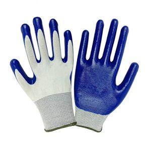 rycnet Gants de Protection imperméables pour Homme et Femme Résistant aux épines Antidérapant Extérieur Jardin Cadeau Nouvel an Blue + White