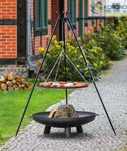 Set–Barbecue 1,80m avec Ø 70cm Grille pivotant et brasero Set: Grillrost: Ø70cm – Feuerschale 303: Ø80cm