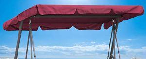 Toit de Rechange pour balancelle balançoire Bordeaux 200x145cm
