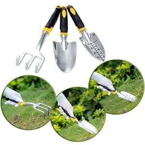 VDK Outil de jardinage Truelle Repiqueuse mécanique + + Râteau pour gazon jardinage Outils simples Gadgets Yard plantes outils de jardinage Pelle 3pcs/lot