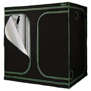 Zelsius Grow Tente Myhome Grow Grow | Indoor Grow Box Vert | Noir | Grow Room Grow Armoire Dark Room Tente serre de jardin Tente de culture 240 x 120 x 200 cm Noir