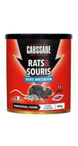Caussade CARSPT150 Rats & Souris – 15 Pâte Appât prêt à l'emploi -Habitation et Cuisine | Forte Infestation