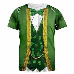 Conquror Unisexe Impression Lettres Tees Shirt Shirt Chemise à Manches Courtes Blouse Saint Patrick avec trèfle Vert Hommes et Femmes Manches Courtes T-Shirt Top