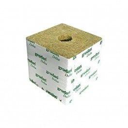Cubes de laine de roche 10x10x6.5 – Trou de 27/35mm – Carton de 216 cubes – Grodan