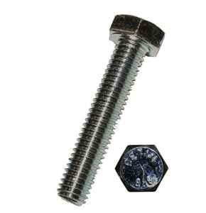 Dresselhaus vis à six pans avec 8,8 filetage jusqu'à la tête EN 4017 ISO DIN 933, EN acier galvanisé 6 M x 55 mm-lot de 100