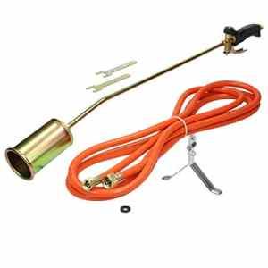ECD Germany Chalumeau à gaz – Puissance de combustion de 58 kW – avec un tuyau de gaz propane de 5 m – désherbeur thermique – torche à gaz