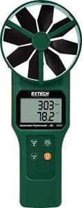 Extech AN320 Anémomètre/Psychromètre CMM/CFM à moulinet avec mesure CO2
