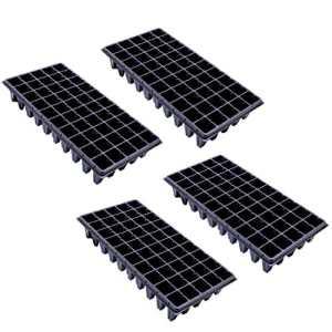 Gosaer Pots de Semis, 4 PCs 50 Trous Cellules de Semis Plateau de Démarrage de la Plante Fleur Plateau Bac de Plantation Conteneur