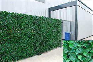 Ivy Artificielle Feuille de Blindage haie Panneaux sur Rouleau de confidentialité pour clôture de Jardin, Vert, 1.0m x 3m