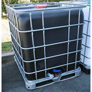 Multitanks – Cuve IBC 1000 litres d'occasion ayant contenue des produits chimiques – Cuve noire avec palette acier