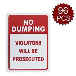 Panneau en Aluminium avec Inscription « No Dumping Violators Will Be Tedted », imprimé aux UV et résistant aux intempéries, 25,4 x 35,6 cm, No Dumping/96pcs, 10″ W x 14″ L