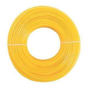Rouleau de 2,4mm x 100m Fil de nylon profil Torx pour débroussailleuse tondeuse à gazon Linea jaune