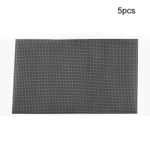 Takefuns Lot de 5 Tapis en Maille pour Pot de Fleurs en Plastique pour éviter la Perte de Sol et Anti-Corrosion, Plastique, 5pcs-30 X 20 Cm, 5PCS-30 x 20 cm
