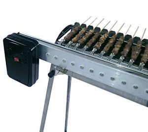 Tecnoroast fornacella Inoxydable à Charbon + Kit Automatique avec crémaillère Hommage–40pièces–Alimentation à Piles