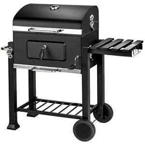 TecTake BBQ GRILL BARBECUE CHARBON DE BOIS FUMOIR – diverses tailles au choix – (Charbon de bois   No. 402174)