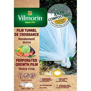 Vilmorin – Film de croissance perforé – farine de céréales – 2m x 8m 20µm