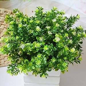ypypiaol Artificielle Plante Feuillage Faux Arbustes Feuilles Tropicales Verdure Tiges Palm Leaf Décor pour La Maison Cuisine Fête Fournitures Feuilles Tropicales Décorations