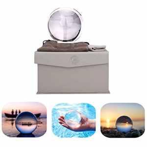 ADWIKOSO K9 Boule en Cristal pour Photographie avec Pochette décorative avec Support 80mm Set