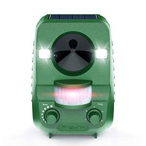 AngLink Répulsif Chat Ultrason Solaire Repulsif Chat Exterieur pour Éloigner Les Animaux Nuisibles de Votre Jardin – 2019 Nouvelle