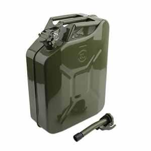 Bidon Jerrycan 20 L Cartknights avec verseur, pratique, pour réservoir de cyclomoteur, portable, essence, eau, réservoir, métal, pétrole, bidon