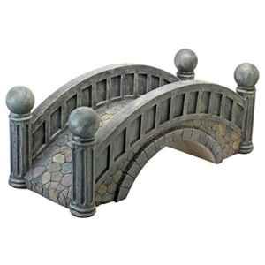 Design Toscano NG30290 Pont pavé en Demi-Pente Multicolore, 38 x 91,5 x 34,5 cm