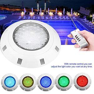 Lampe de Piscine, Lumières LED Submersible Étanche de Lumière de Nuit de Projecteur Piscine de 30W RGB 300 LED avec Télécommande
