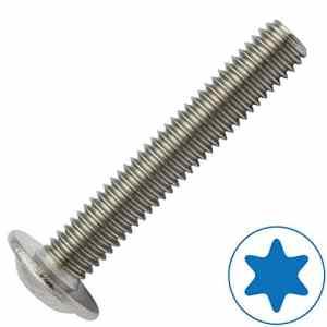 Lot de 20 vis à tête plate avec bride selon ISO 7380-2 TX en acier inoxydable A2