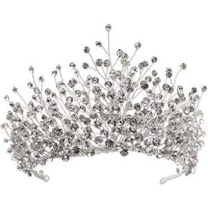 LYM Strass Couronne Accessoires de mariée Fille Coiffe Princesse Bande de Cheveux Vacances décorations de Mariage (Couleur : A)