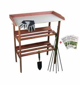 Maxx Garden – Table de jardinage 80 x 40 x 86 cm – Plaque de travail
