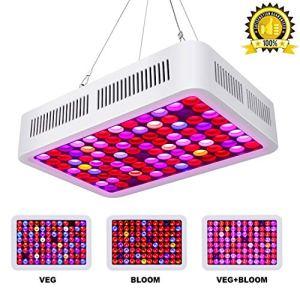 Roleadro Lampe de croissance à LED 600 W avec variateur VEG & BLOOM LED Grow Light 12 bandes pour plantes d'intérieur, légumes et fleurs