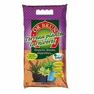 Substrat Terreau Plantes Carnivores 5 L – Or Brun