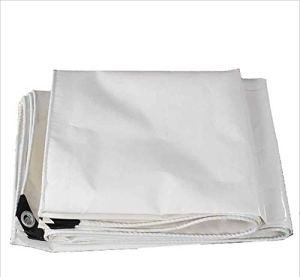 SZ JIAOJIAO Résistant Imperméable À Bâche Étanche Couteau Blanc Raclage Tissu Écran Solaire Résistant Imperméable Durable Bâche De Protection Blanc 450G/M2,5X8m