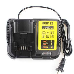 Waitley DCB112 Chargeur de batterie pour batteries Li-ion Dewalt 10.8V 14.4V 18V 2A