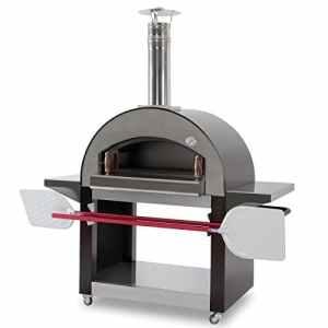'»4mori Four à bois en acier inoxydable–Capacité 4pizzas–karmek One