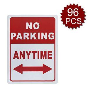 aspire Panneau en Aluminium de qualité supérieure avec flèche, Inscription Do Not Block Driveway, No Parking/96pcs, 10″ W x 14″ L