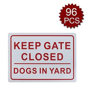aspire Panneau « Keep Gate Closed Dogs in Yard » pour Usage intérieur et extérieur, Keep Gate Closed/96pcs, 10″ W x 14″ L