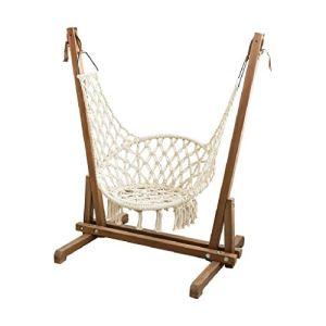 Balançoire Chaise pivotante balançoire de Jardin d'extérieur balançoire en Bois d'intérieur Chaise Simple Balcon Chaise berçante Adulte (Color : Brown, Size : 96 * 86 * 143cm)