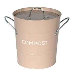 Eddingtons Composteur de cuisine en métal pour le recyclage des déchets de nourriture