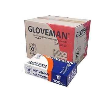 Gants en vinyle NON poudré sans LATEX et transparent, Etui de 10 boîtes de 100 gants pour un total de 1000 Gants Taille moyenne NEW- cas DEAL