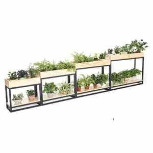 G-HJLXYZWJHOME Plante en Bois Massif Contenant Fer forgé Restaurant partition étagère de Fleurs Convient pour Les Jardins, balcons, Salons, Restaurants, Mariages