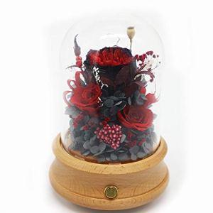 Haut-parleur Bluetooth préservé cadeau de fleur de Rose immortelle en verre de fleur de Rose pour la fête des mères, anniversaire d'amant, cadeaux de Saint Valentin, cadeau de mariage ( Couleur : A )