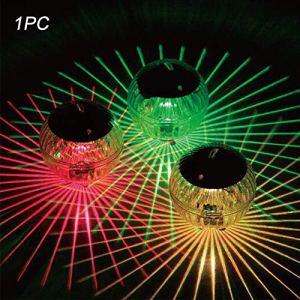Lampe solaire pour bassin, lumières flottantes à suspendre avec boule à boule à changement de couleur, étanche, pour piscine, étang, décoration de la maison, Coloré