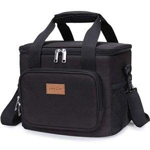 Lifewit 15L (24 Canette) Sac Isotherme Lunch Bag, Sac-Glacière Cooler Bag Sac de Repas pour Déjeuner/Travail/Ecole/Plage/Pique-nique, Noir