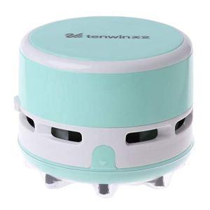 Li-ly Mini aspirateur de poussière de table de bureauBalayeuse pour bureau à domicile (bleu)